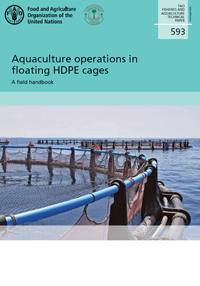 Aquaculture operations in floating HDPE cages