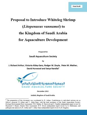 Proposal to Introduce ( vannamei) to KSA